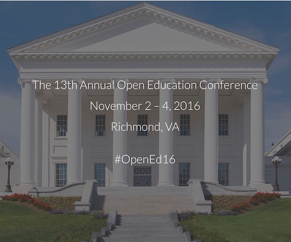 Open Education Conference Nov 2-4, 2016