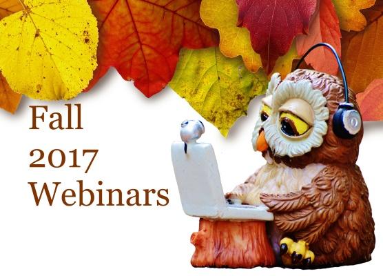 Fall 2017 Webinars