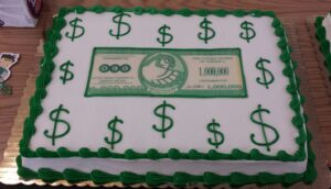 million dollars saved cake
