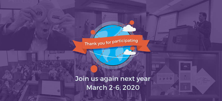 Thank You for Participating - Join us again next year March 2-6 2020
