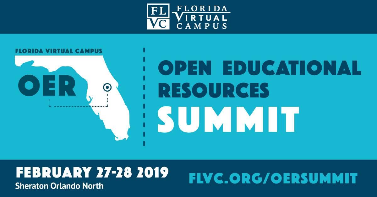 2019 FLVC OER Summit logo