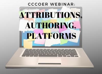 Feb 12 Webinar: Attributions, Authoring, Platforms