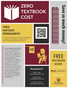 Zero Textbook Cost Flyer