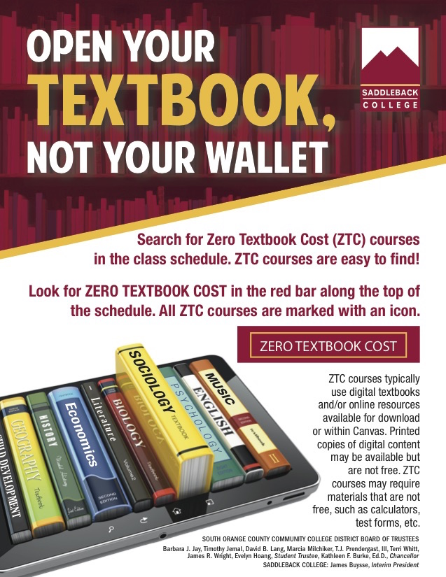 Open Your Textbook Not Your Wallet